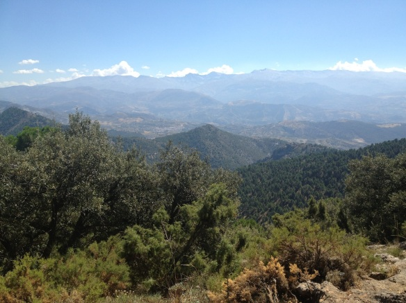 Just minutes from Granada and we are in these beautiful mountains
