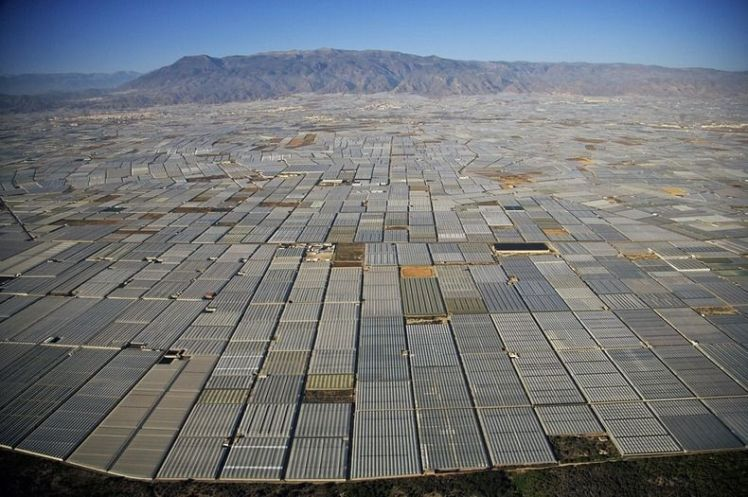 This is what intensive factory agriculture looks like in Almeria, Spain