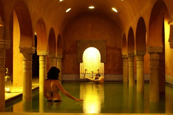 The warm pool at the bathhouse