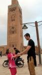 Dancing by La Koutoubia Mosque