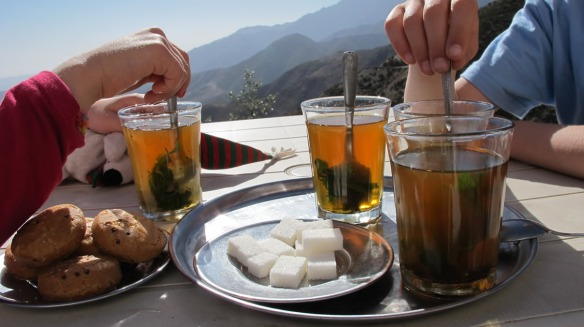 Tea at Tiz n' Nest (2,100m) crossing the Atlas Mountains