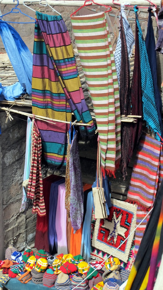 Wares for sale in the mountain villages