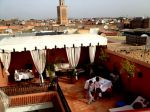 Breakfast on the terrace of the Riad