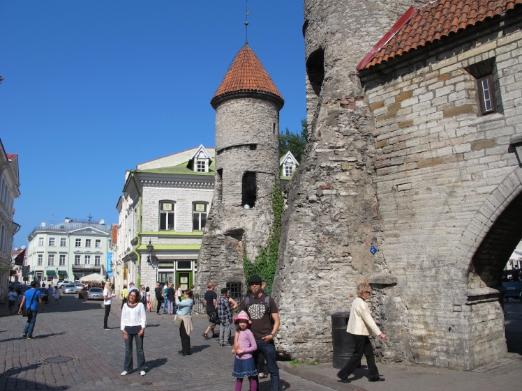 The stunning city walls of Tallinn, Estonia