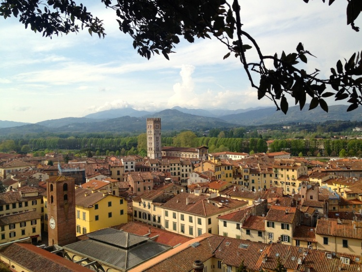 Lucca huddles within its walls