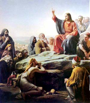 Jesus gives his Sermon on the Mount, Sea of Galilee