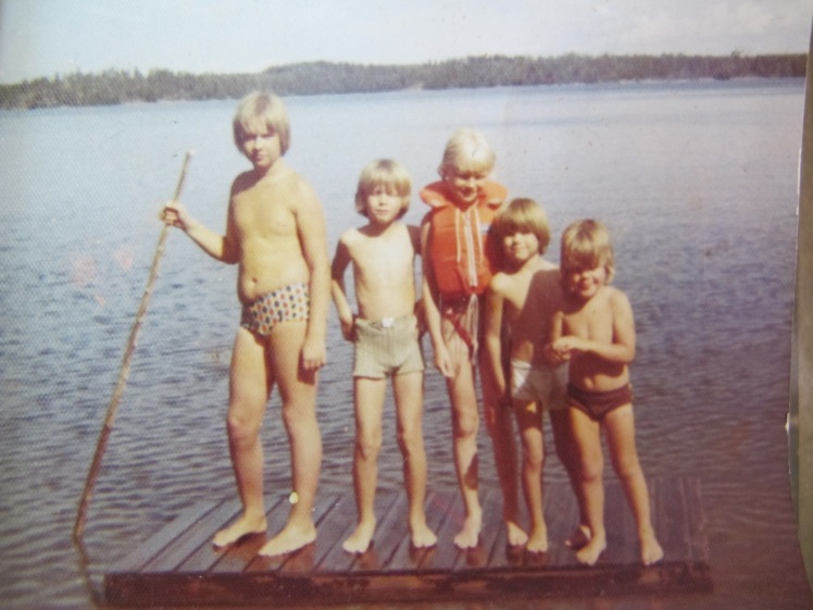 My husband as a child with his Finnish cousins