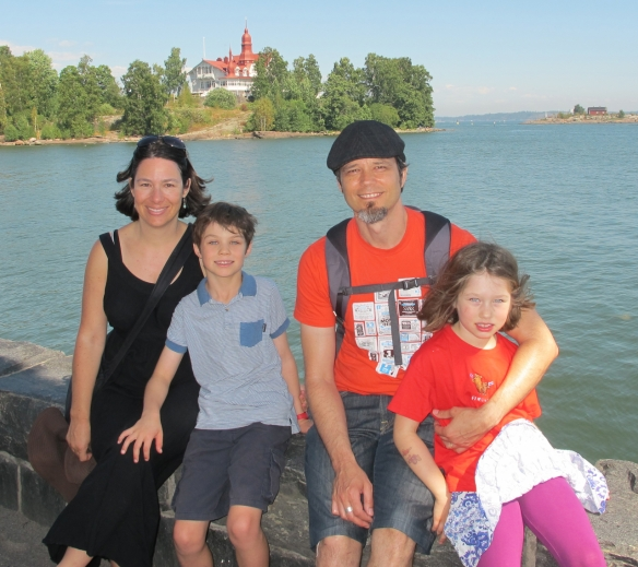 Family of adventurers at the end of our month in Finland