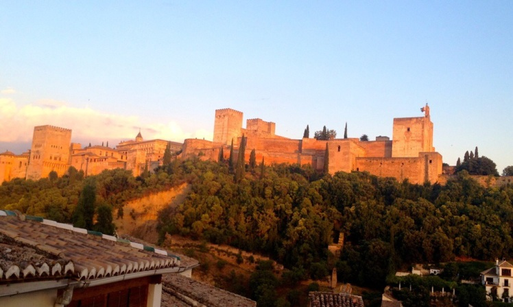 The view from our house in Granada