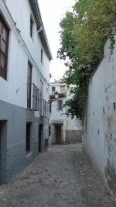 The cobbled streets and plazas of the Albaicin
