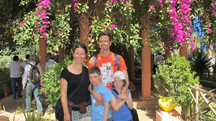 Four of us in Morocco