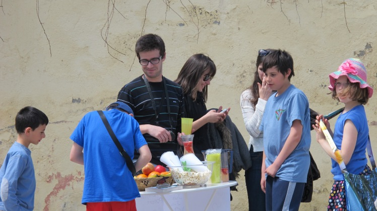 By the end of the year the kids has the confidence to set up their own lemonade stall in the plaza